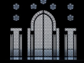 Glass doors at the Hassan II Mosque, Casablanca