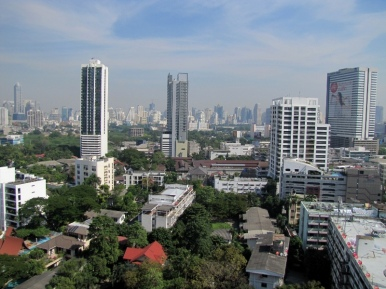 Bangkok from my hotel balcony