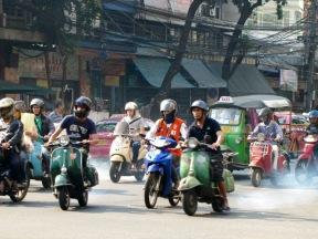 Busy streets of Bangkok