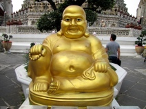 Happy Buddha at Wat Arun