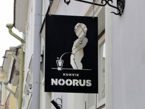 I was sure this was a men's room sign...guess not! Tallinn