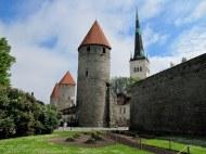 Towers along the old city wall, Tallinn