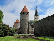 Towers along the old city wall, Tallinn