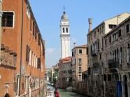 """""""Leaning"""" Campanile of San Giorgio dei Greci Church, Venice"""