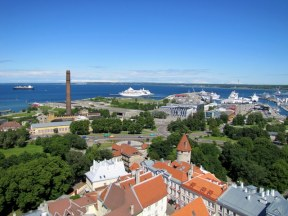 View of Tallinn from St. Olav's Church Steeple