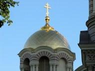 Dome at the Orthodox Cathedral, Riga, Latvia