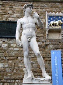 Michelangelo's David (copy) at the Piazza della Signoria, Florence