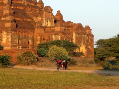 Carriage ride through the archeological zone in Bagan