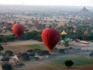 Sunrise balloon ride in Bagan