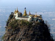 Mt. Popa. A volcanic outcrop with a temple to the nats (powerful spirits)