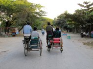 Trishaw ride in Mandalay