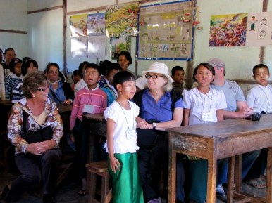 Visit to Myin Ma Htie village grade school near Kalaw