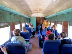 "A short ride on a local train. We were in the ""Upper Class"" car."