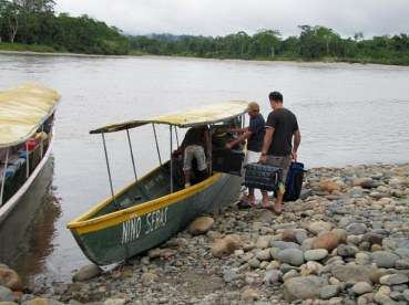 he luggage boat for our stay in the Ecuadorian Amazon basin