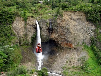 Cable car over the canyon for great waterfall views