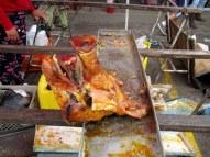 Last pig head...big seller at the market