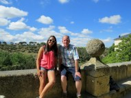 Valerie and I in Segovia