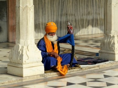 Hermit at the Gurudwara Bangla Sahib Sikh Temple