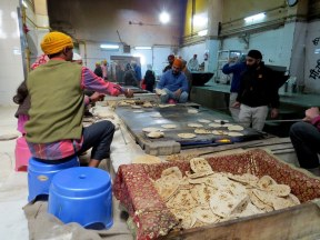 The Sikh temple served about 10,000 free meals a day to anyone who was there. We visited the kitchen on our visit.