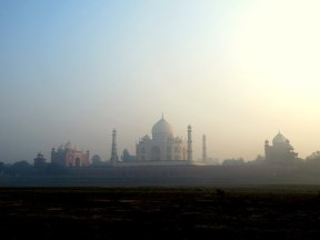 Taj Mahal, Agra. From the Moon Garden.