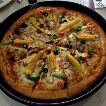 Veggie Pizza at Pizza Hut in Agra