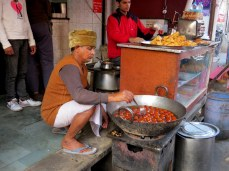 Street food. Gulab Jamun – Milk Balls in Sugar Syrup