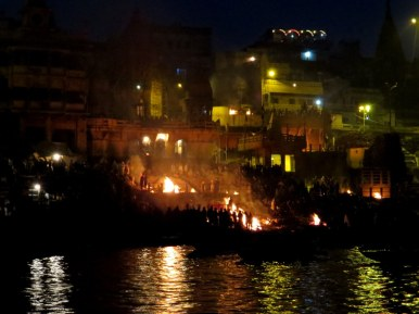 Cremations along the Ganges River, Varanasi