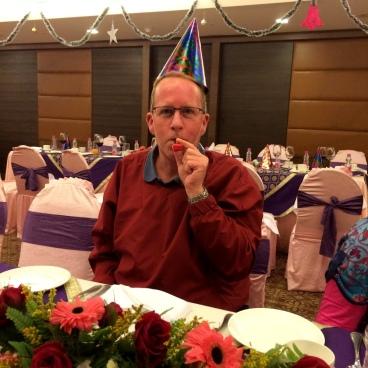 New Year's Eve dinner in Varanasi.