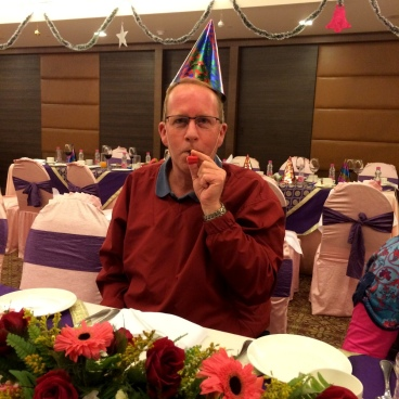 New Year's Eve dinner in Varanasi.