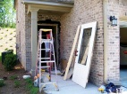 """Ending with my front door...after the builder realized it was about 2"""" out of plumb."""