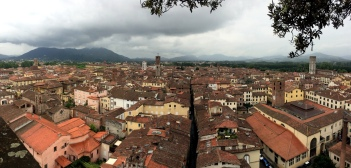 Panorama of Lucca from the top of the Torre Guinigi (Guinigi Tower), iPhoneography