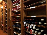 Wine cellar at the restaurant in Lucca where we had our welcome dinner.