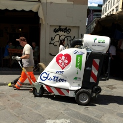Vacuuming the streets of Florence