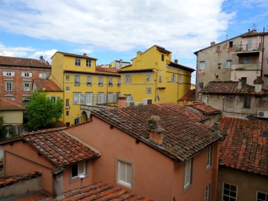 View from my hotel room in Lucca