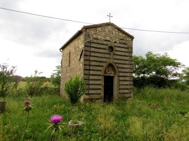 Small chapel we saw during a short hike on the Via Francigena, an ancient pilgrim road.
