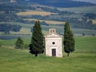 Vitaleta Chapel, Val d'Orcia