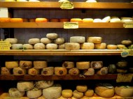 Pecorino cheese shop in Pienze