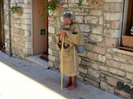 Pilgram or beggar...you decide, Assisi