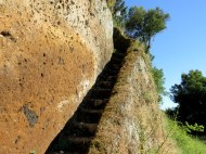Scary steps near hotel in the Roman countryside