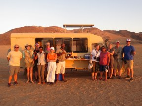 Our group having sundowners