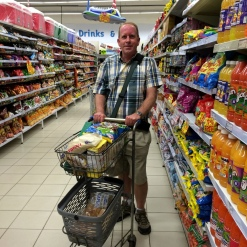 Shopping trip for people in a local village