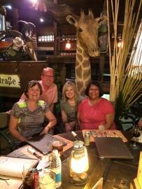 Dinner at Joe's Beerhouse, Windhoek