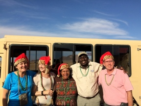 Christmas morning at the airport - Cindy, Janie, Sylvia, Sawa (our trip leader) and me