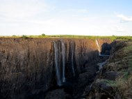 It was the dry season so much of the falls wasn't flowing. The part that was certainly made up for that