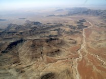 View from the plane on the way to the Namib Desert