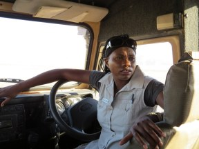 Local guide and driver at Kulala Desert Lodge