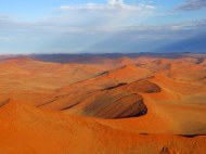 The dunes at Sossusvlei from a hot air balloon