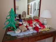 Christmas gift exchange at our hotel in Sawkopmund