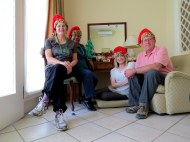 Cindy, Sylvia, Janie and I pose for our Christmas photo