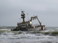 Shipwreck of the Zeila near Swakopmund